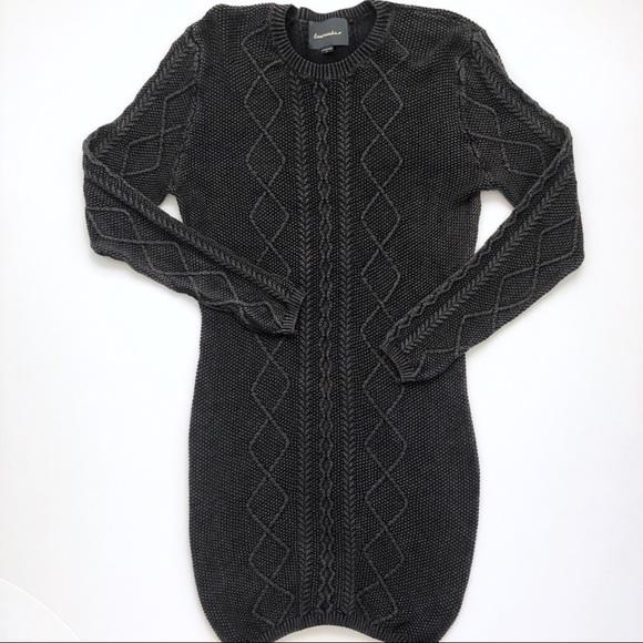 Anthropologie Dresses & Skirts - Anthropologie Lovemarks Knit Gray Sweater Dress M